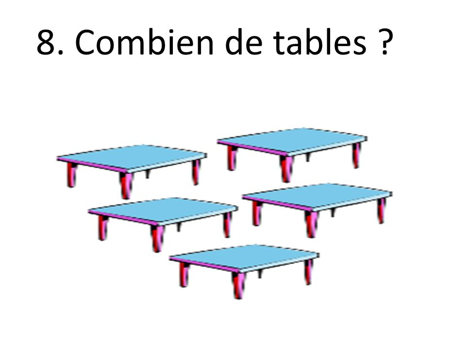 8. Combien de tables