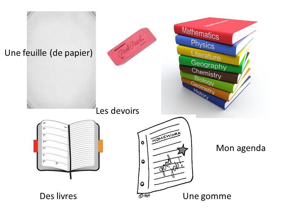 Une feuille (de papier)