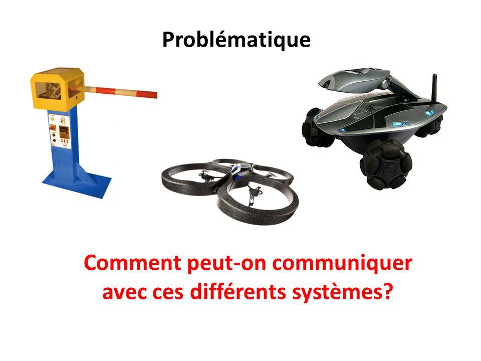 Comment peut-on communiquer avec ces différents systèmes