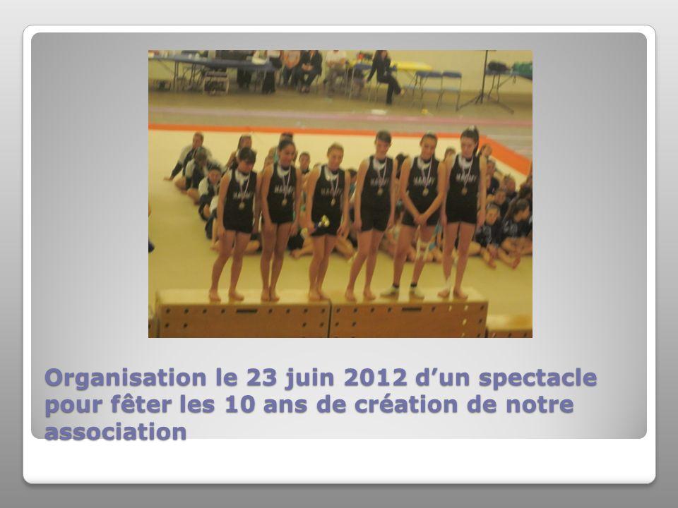 Organisation le 23 juin 2012 d'un spectacle pour fêter les 10 ans de création de notre association