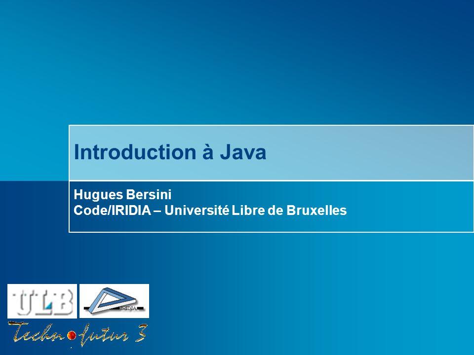 Hugues Bersini Code/IRIDIA – Université Libre de Bruxelles