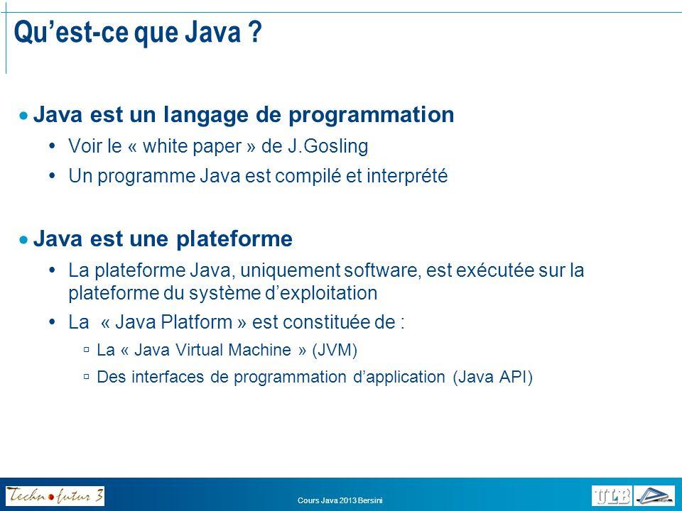 Qu'est-ce que Java Java est un langage de programmation