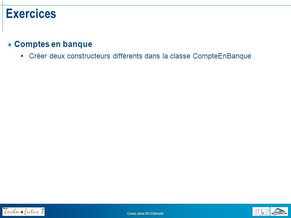 Exercices Comptes en banque