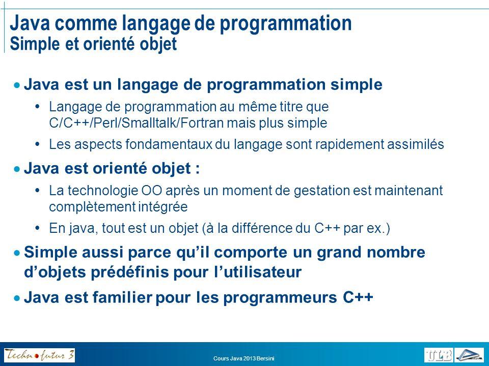 Java comme langage de programmation Simple et orienté objet