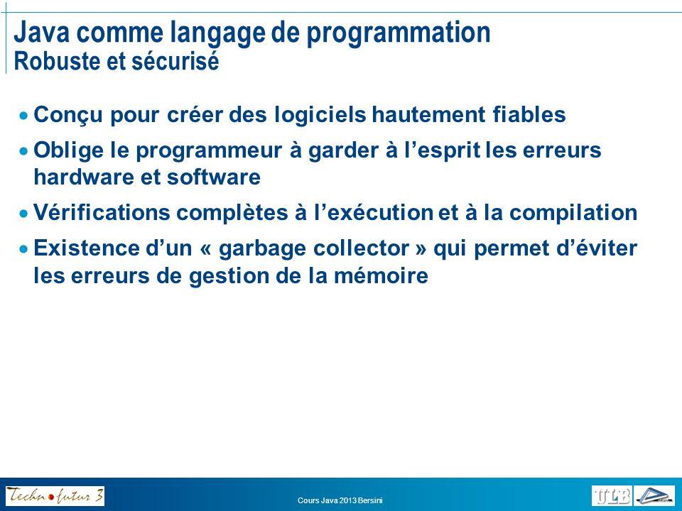 Java comme langage de programmation Robuste et sécurisé