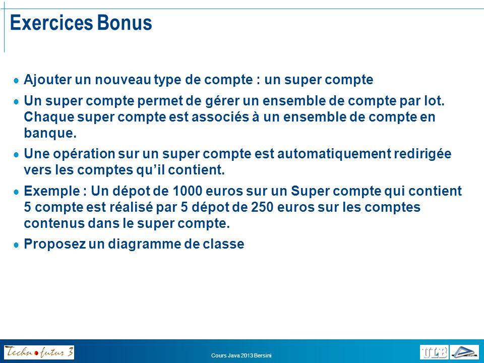 Exercices Bonus Ajouter un nouveau type de compte : un super compte