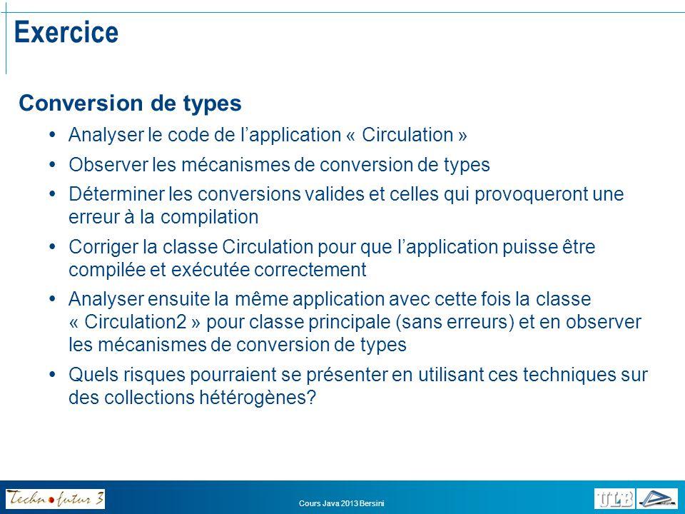 Exercice Conversion de types