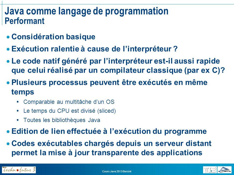 Java comme langage de programmation Performant