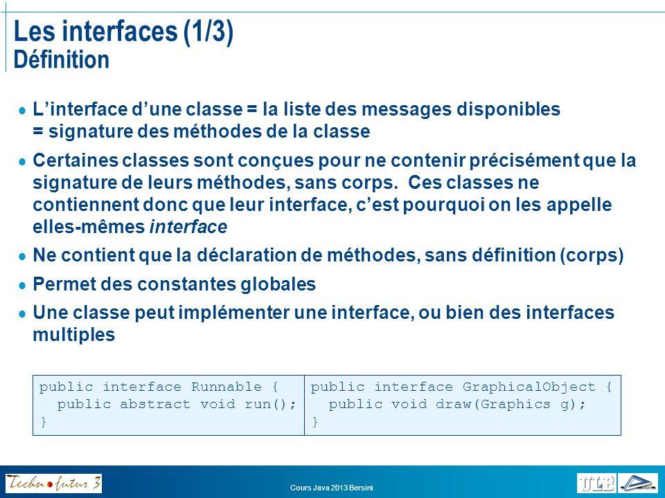 Les interfaces (1/3) Définition