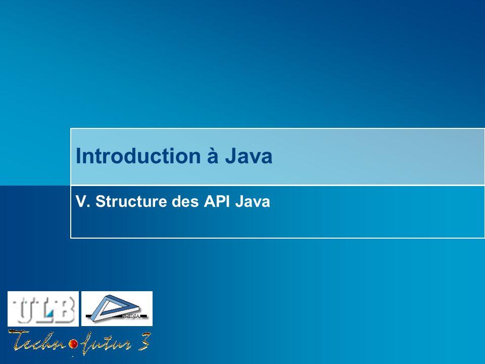 V. Structure des API Java