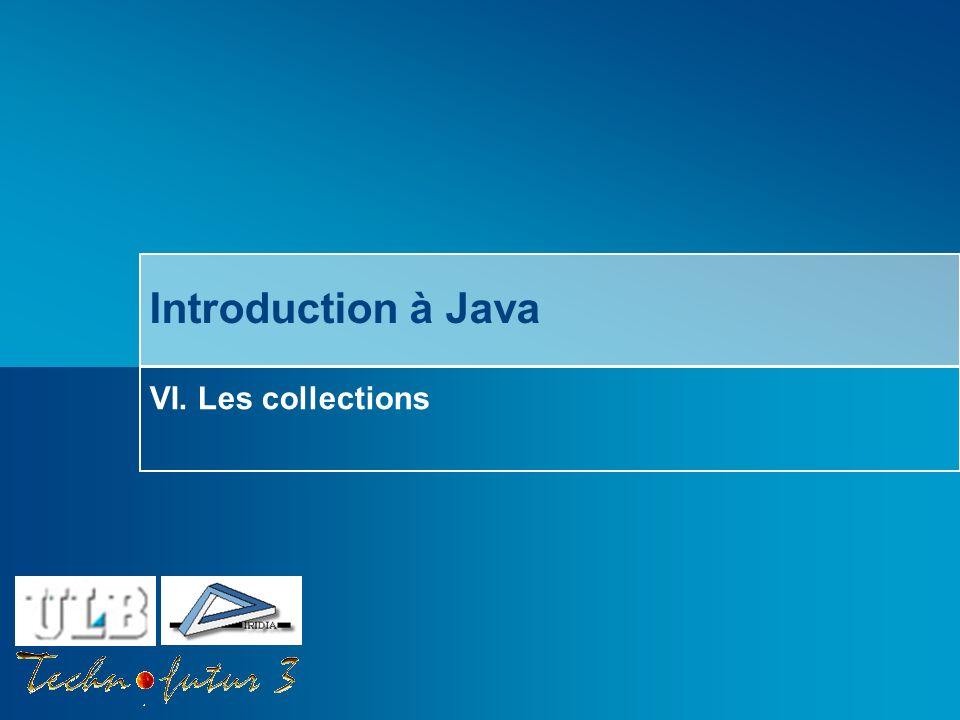 Introduction à Java VI. Les collections