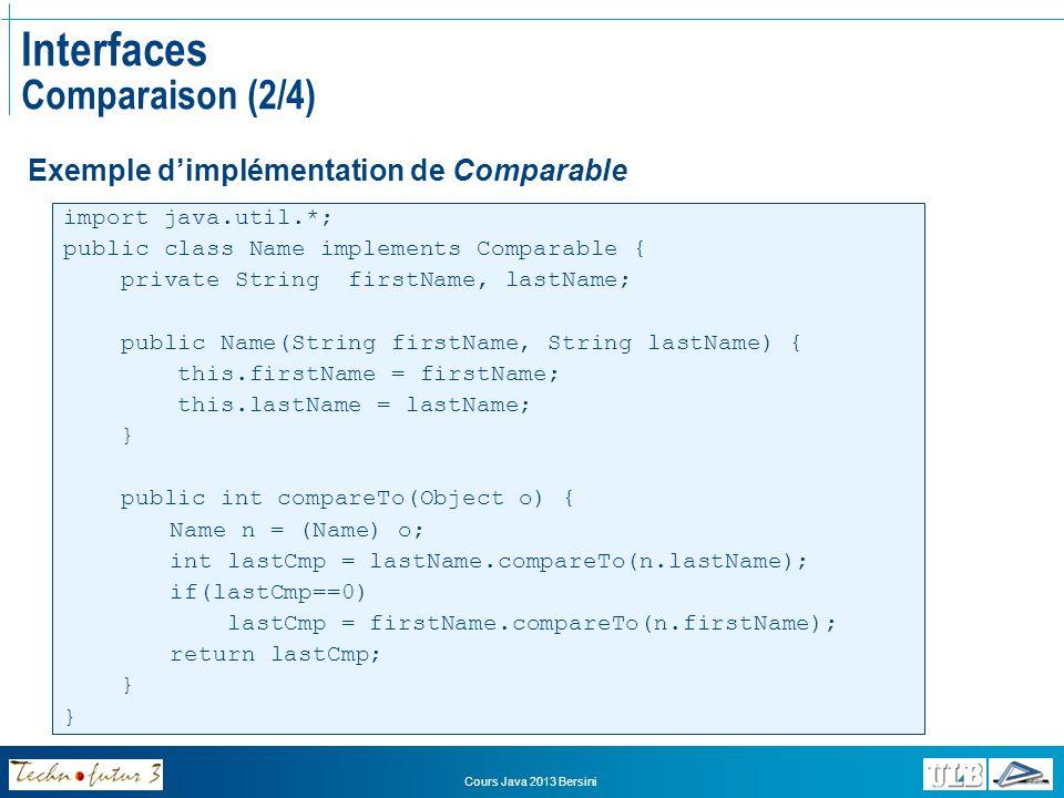 Interfaces Comparaison (2/4)
