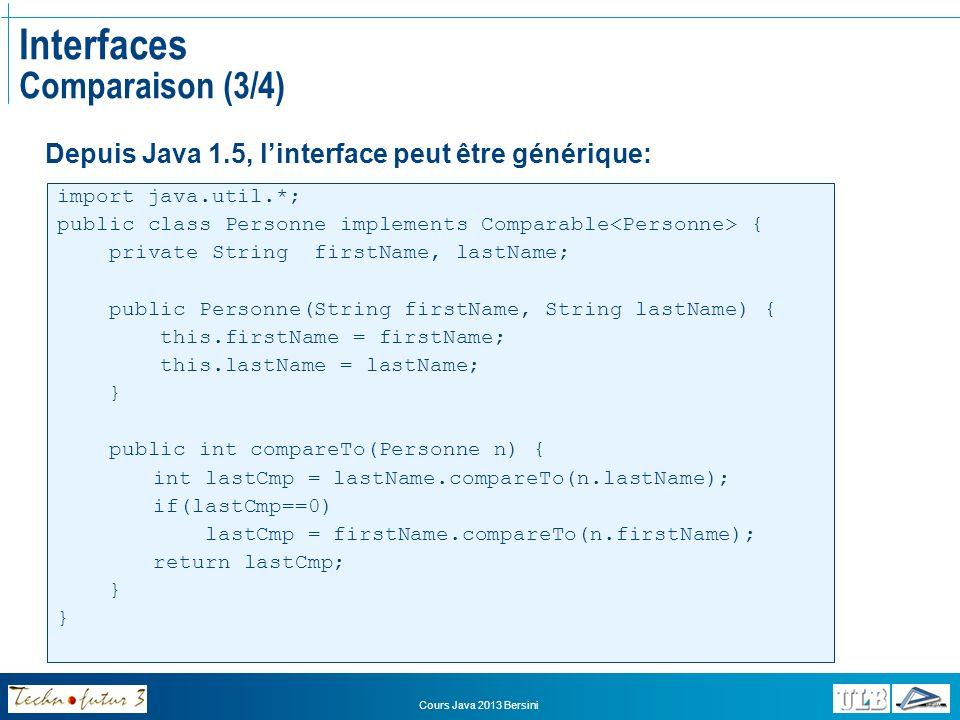 Interfaces Comparaison (3/4)