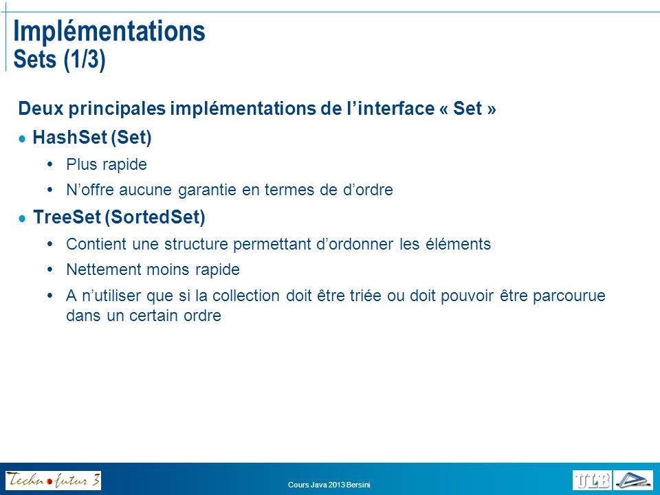 Implémentations Sets (1/3)