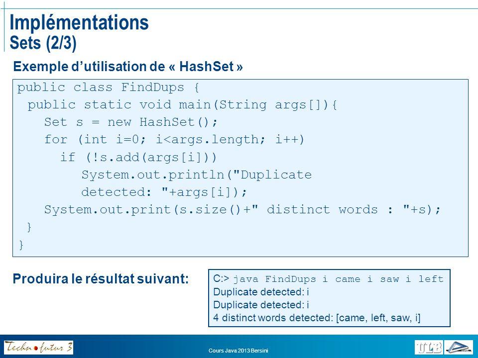 Implémentations Sets (2/3)