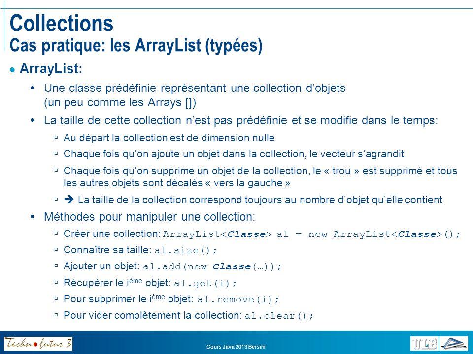 Collections Cas pratique: les ArrayList (typées)