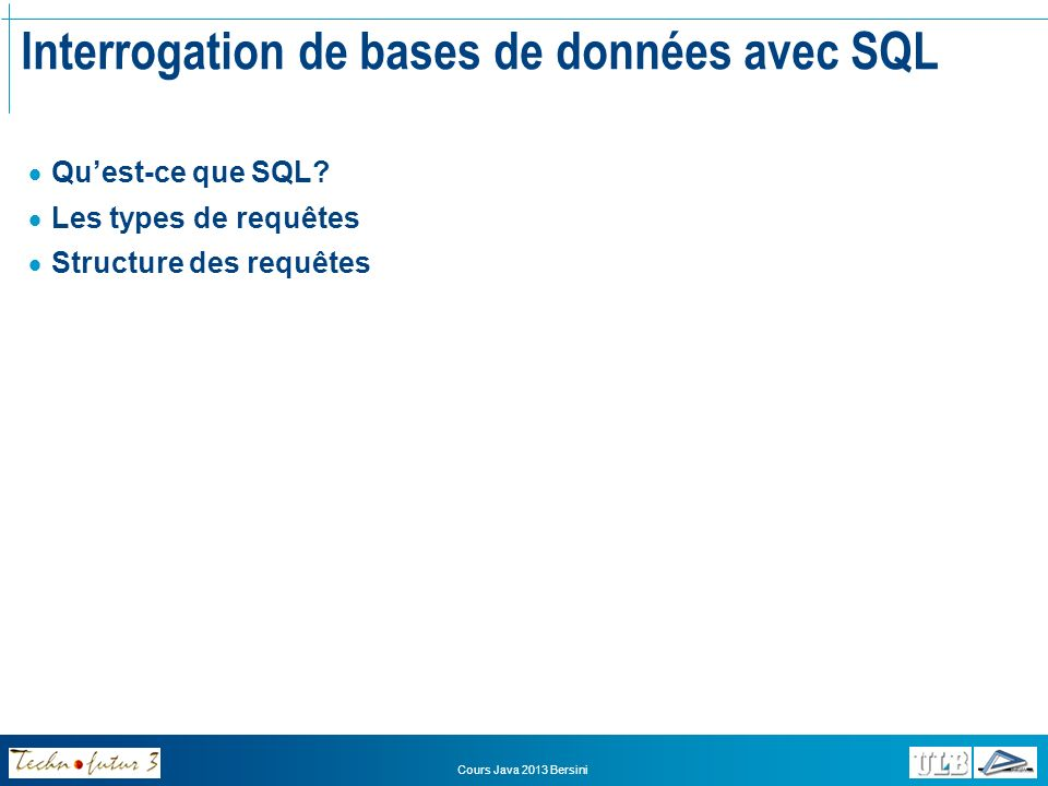 Interrogation de bases de données avec SQL