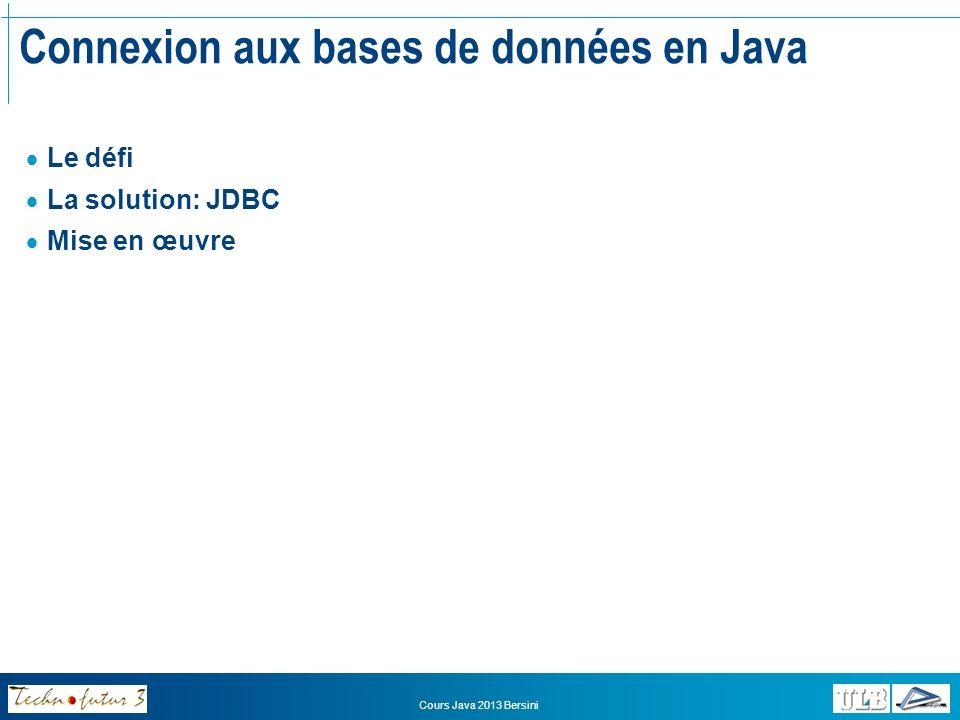 Connexion aux bases de données en Java