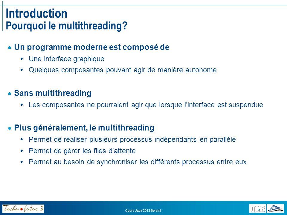 Introduction Pourquoi le multithreading