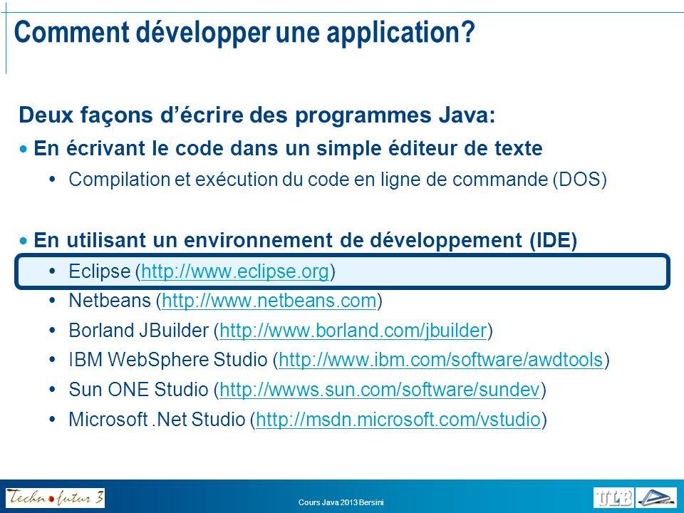 Comment développer une application