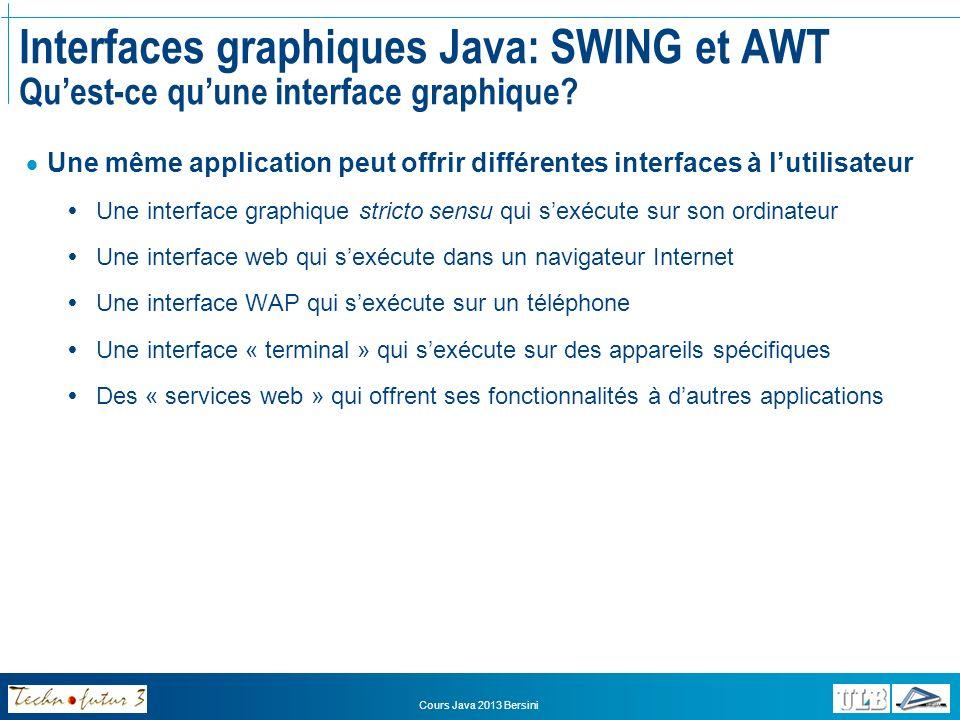 Interfaces graphiques Java: SWING et AWT Qu'est-ce qu'une interface graphique