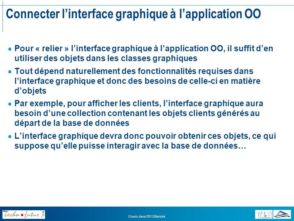 Connecter l'interface graphique à l'application OO