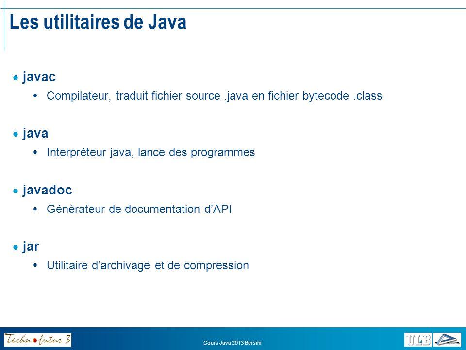 Les utilitaires de Java