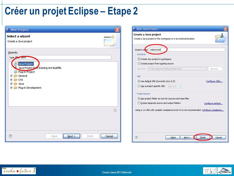 Créer un projet Eclipse – Etape 2