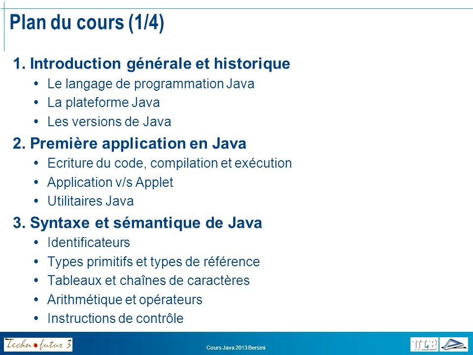 Plan du cours (1/4) 1. Introduction générale et historique