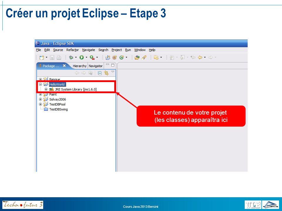 Créer un projet Eclipse – Etape 3