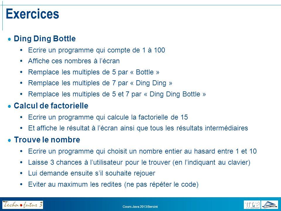 Exercices Ding Ding Bottle Calcul de factorielle Trouve le nombre