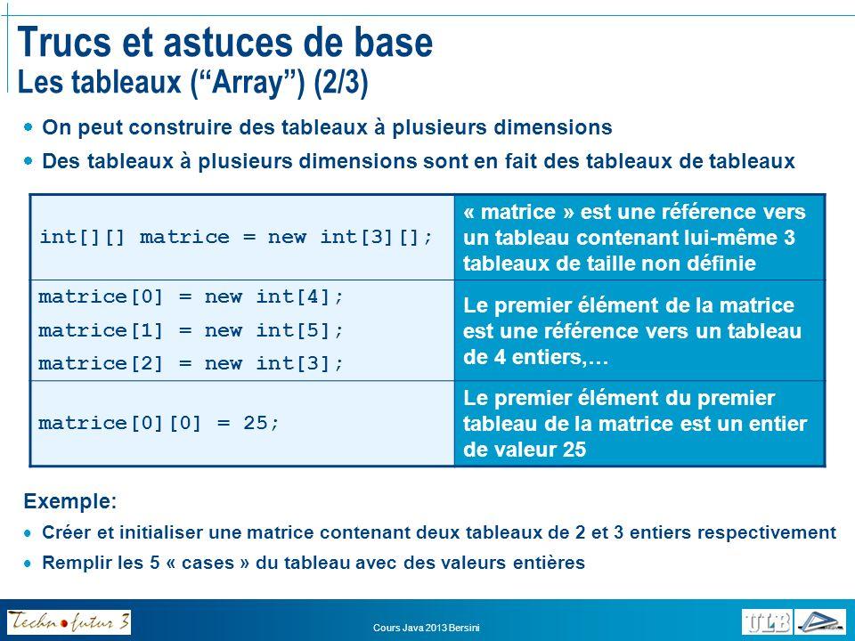 Trucs et astuces de base Les tableaux ( Array ) (2/3)