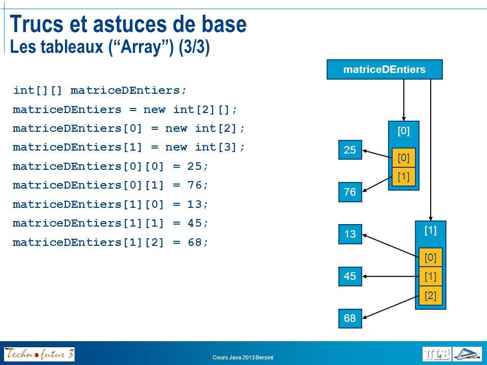 Trucs et astuces de base Les tableaux ( Array ) (3/3)