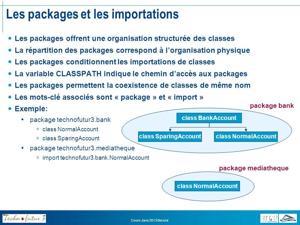 Les packages et les importations