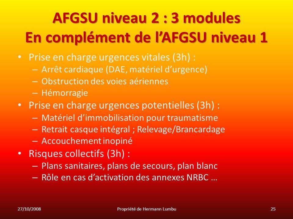 AFGSU niveau 2 : 3 modules En complément de l'AFGSU niveau 1