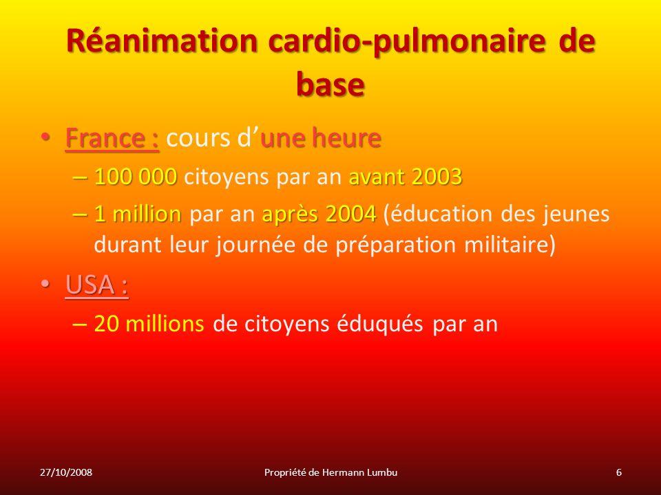Réanimation cardio-pulmonaire de base