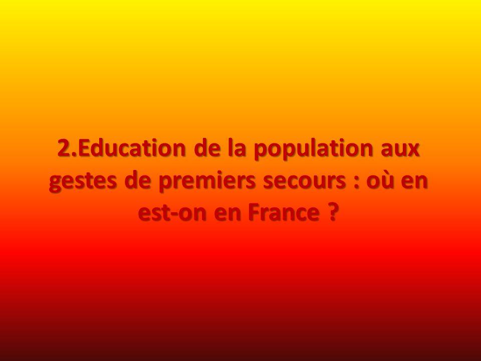 2.Education de la population aux gestes de premiers secours : où en est-on en France