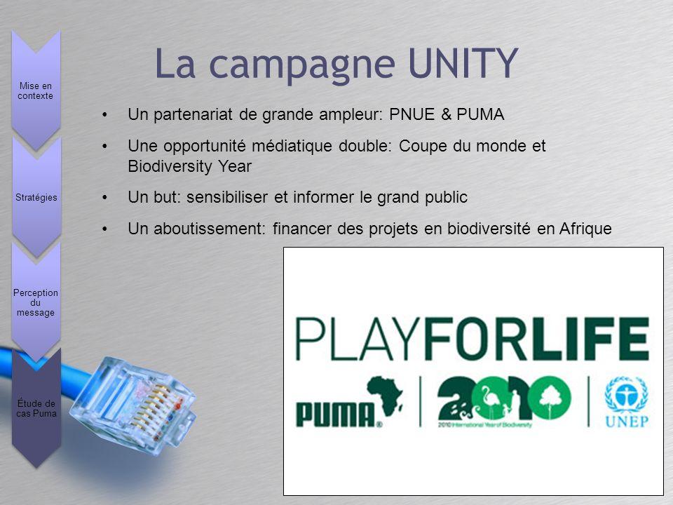 La campagne UNITY Un partenariat de grande ampleur: PNUE & PUMA