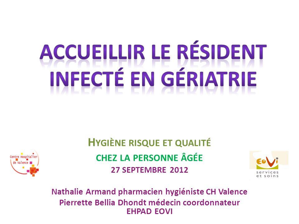 Accueillir le résident infecté en gériatrie