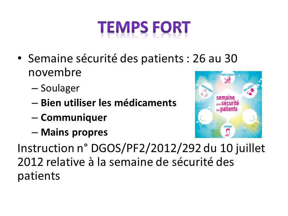 Temps fort Semaine sécurité des patients : 26 au 30 novembre