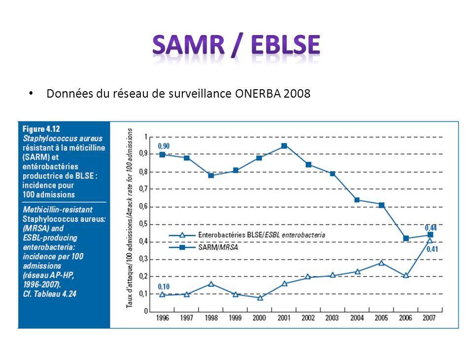 SAMR / EBLSE Données du réseau de surveillance ONERBA 2008