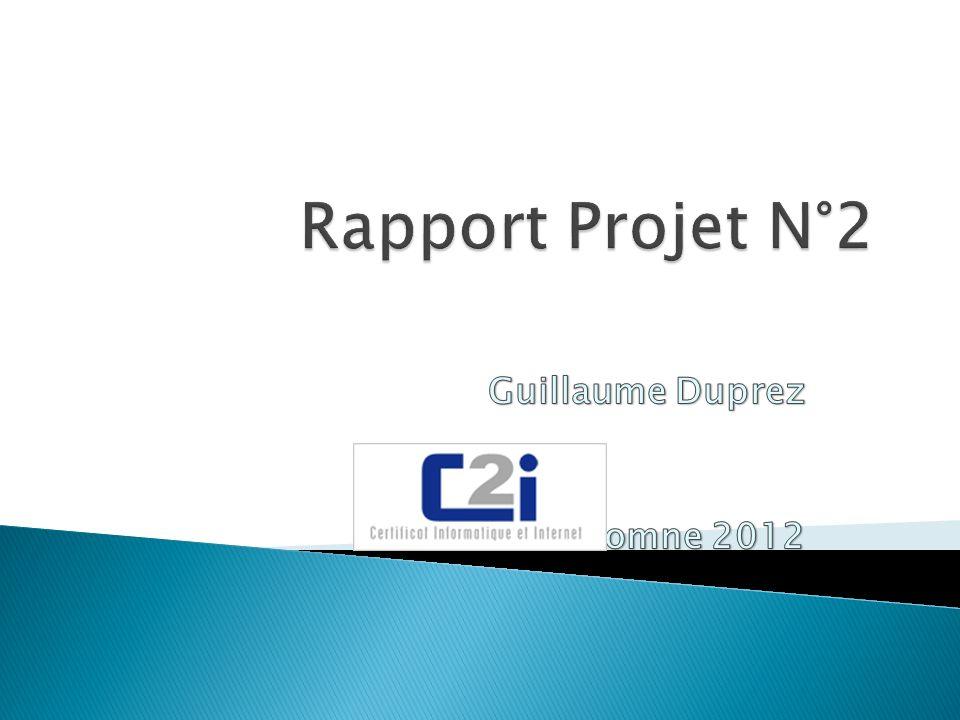 Guillaume Duprez Automne 2012