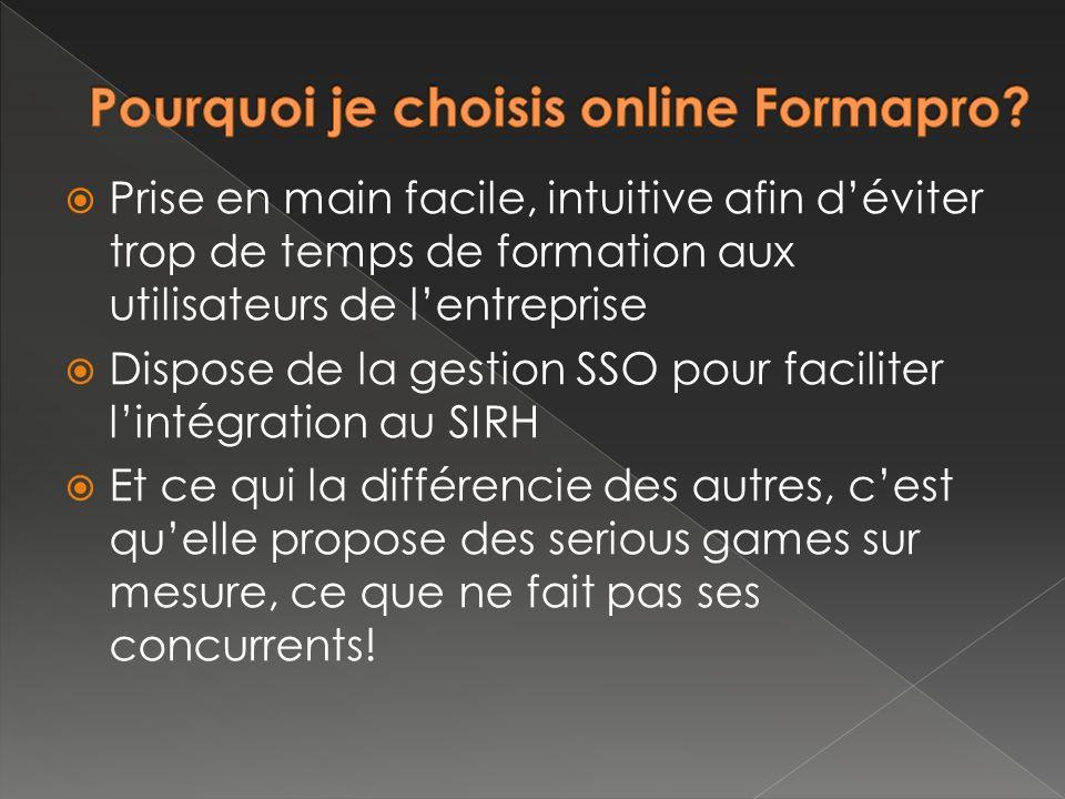 Pourquoi je choisis online Formapro