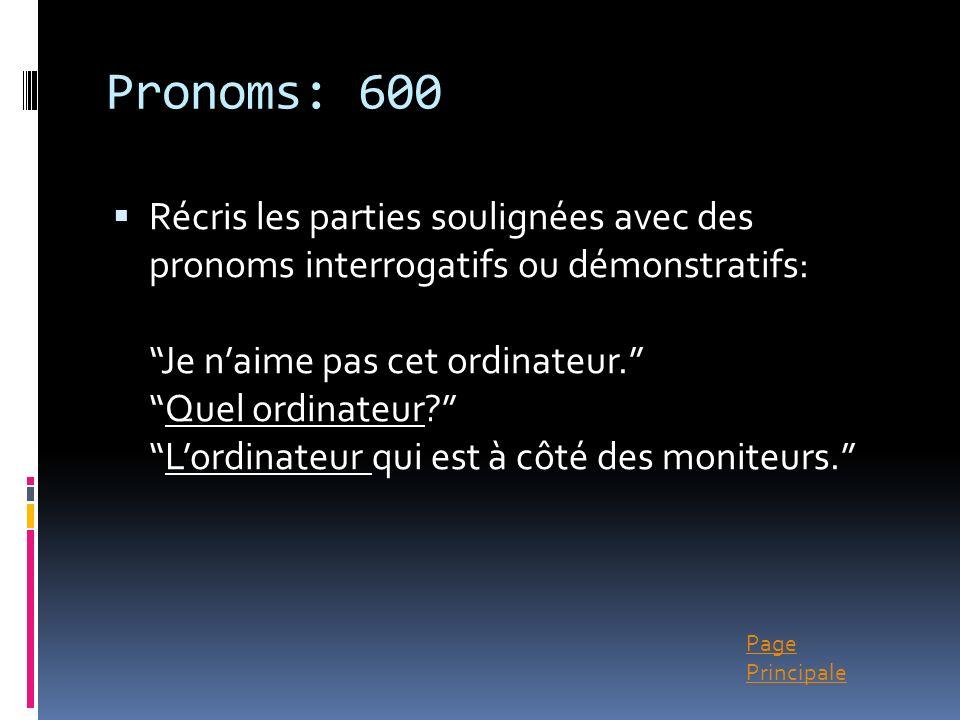 Pronoms: 600