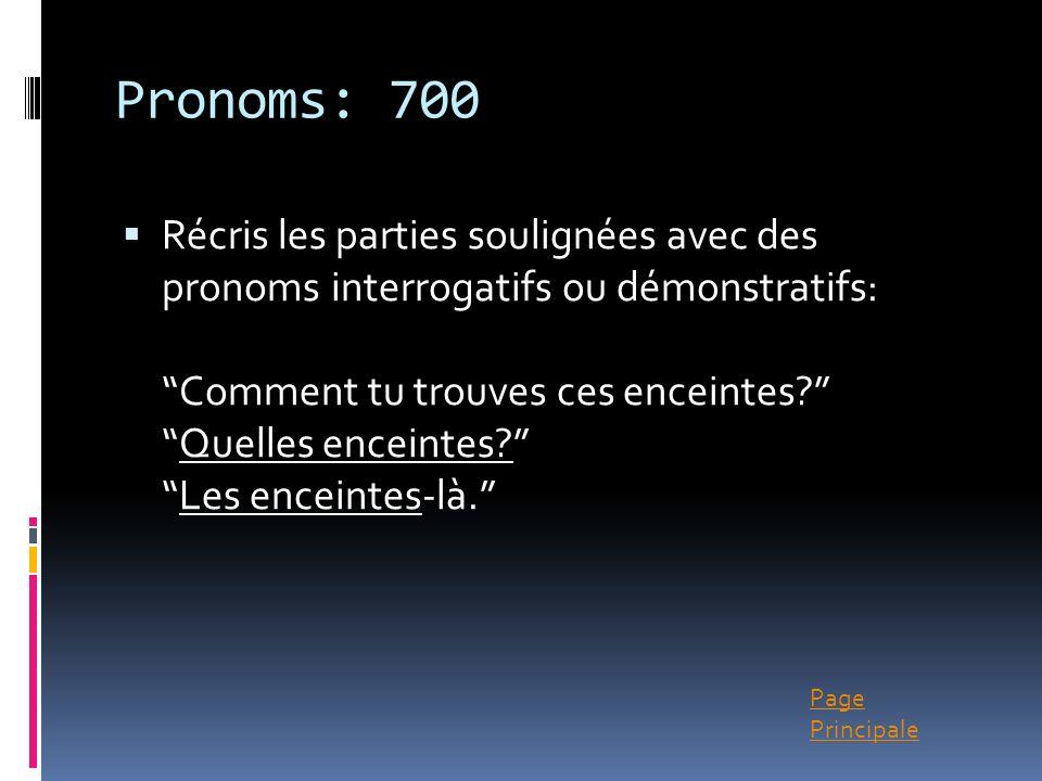Pronoms: 700