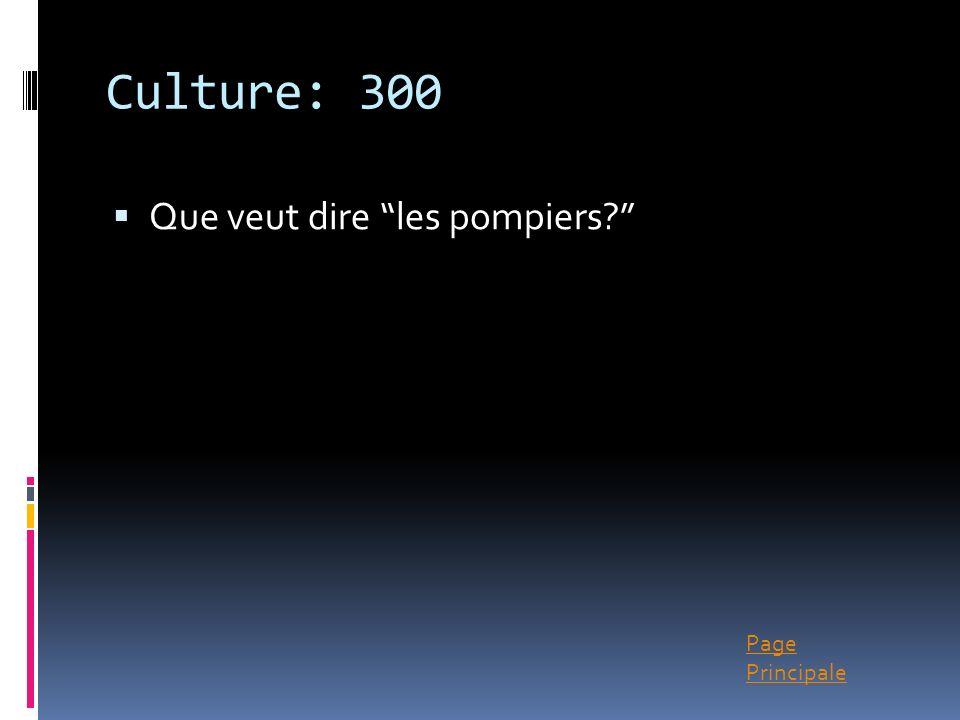 Culture: 300 Que veut dire les pompiers