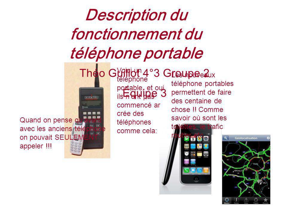Description du fonctionnement du téléphone portable