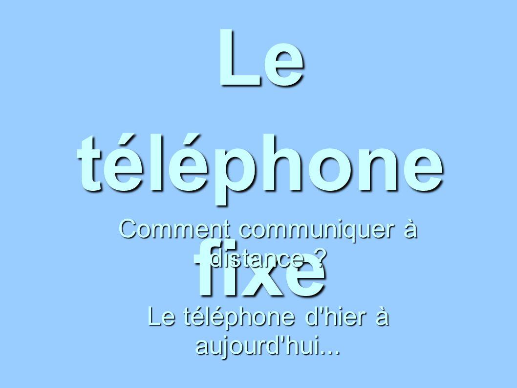 Le téléphone fixe Comment communiquer à distance