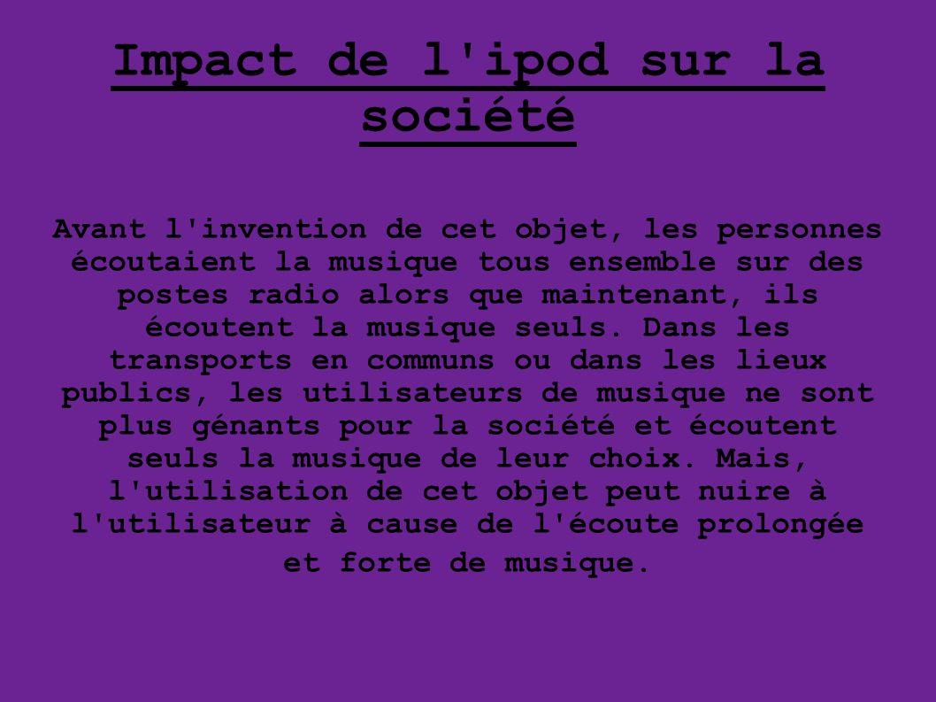 Impact de l ipod sur la société