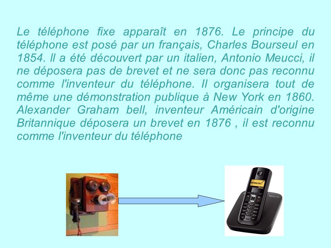 Le téléphone fixe apparaît en 1876